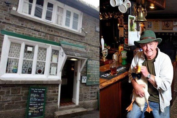 Pato se bebe una cerveza en un bar y se pelea con un perro