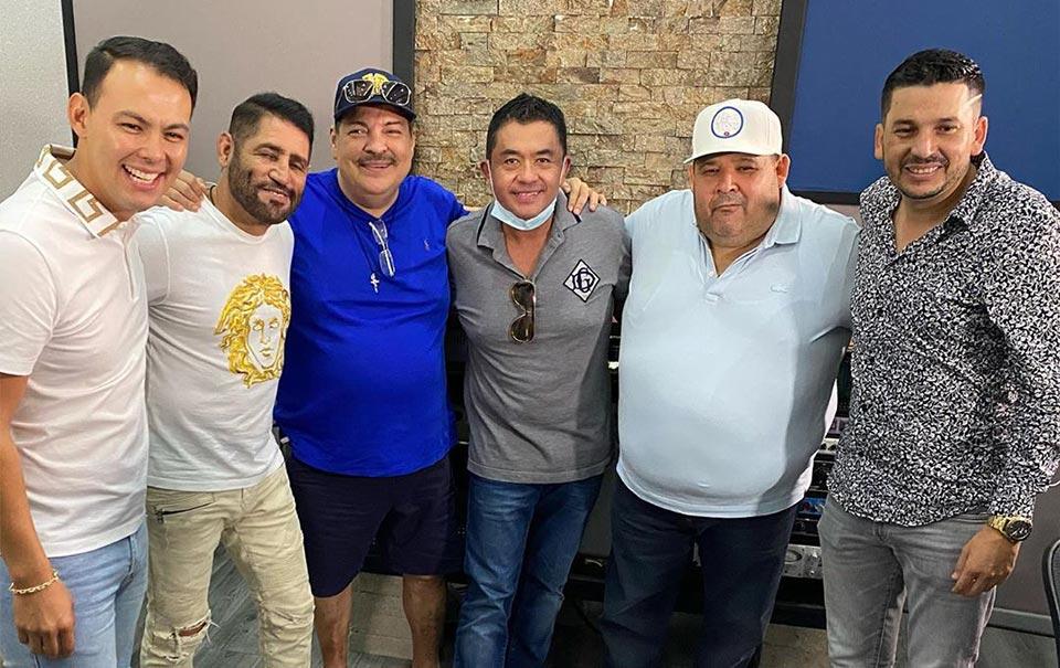 """Pancho Barraza graba al lado de """"El Flaco"""", """"El Coyote"""" y """"Julio Preciado"""""""