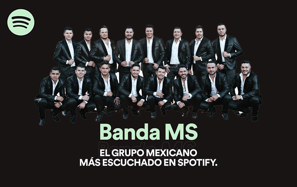 """La """"Banda MS"""" es reconocida nuevamente por Spotify"""