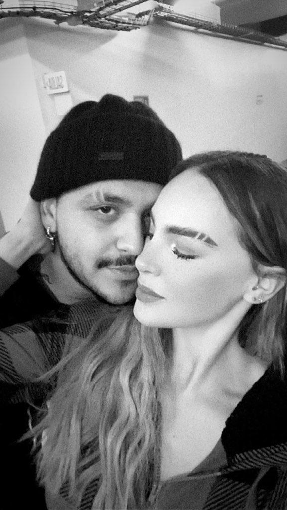 Christian Nodal y Belinda muestran nuevo look en cejas y los critican