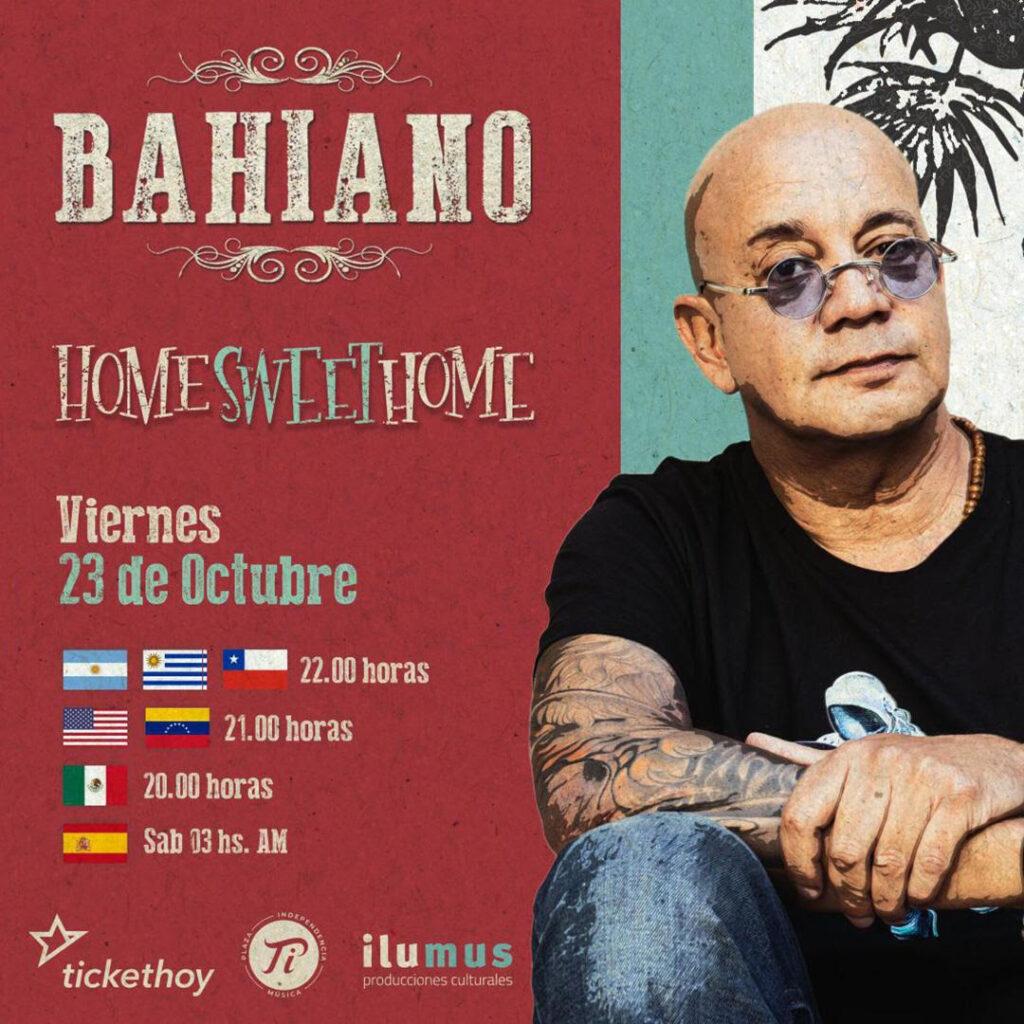 """BAHIANO PRESENTARÁ EN MÉXICO SU NUEVO DISCO """"ORIGINAL ROOTS"""" CON SHOW EN STREAMING ESTE 23 DE OCT"""