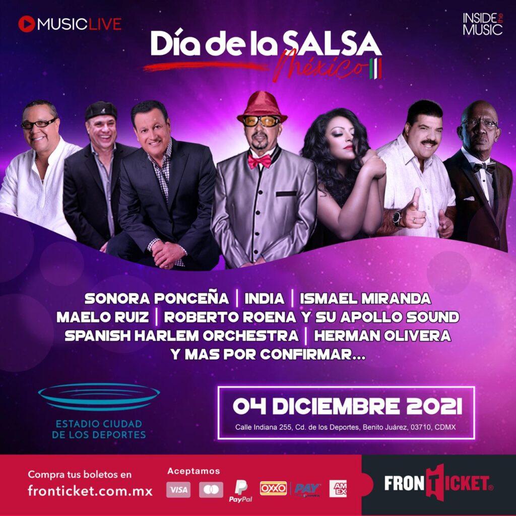 SONORA PONCEÑA, INDIA, MAELO RUIZ, SPANISH HARLEM ORCHESTRA Y MUCHOS ARTISTAS ESTELARES MÁS ESTARÁN EN EL DÍA DE LA SALSA