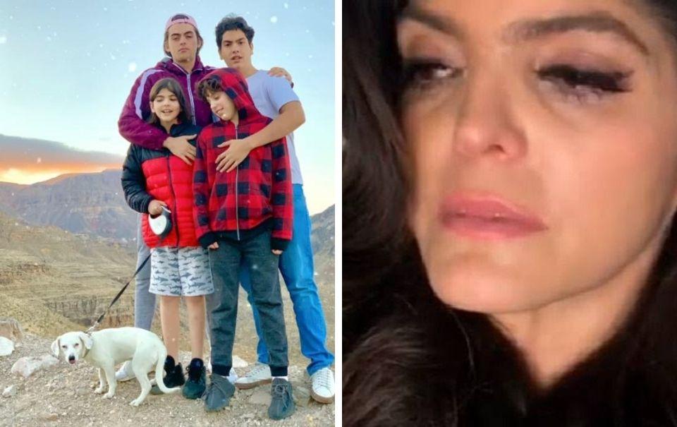 Ana Bárbara pudo haber vivido unas vacaciones de terror con su familia